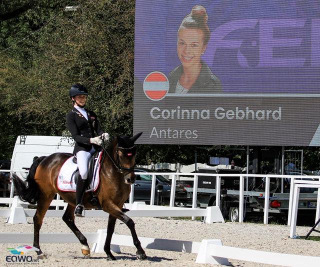 Corinna Gebhard (ST) und ihr 19-jähriger Lehrmeister Antares nehmen bereits zum .... Mal an Europameisterschaften in der Pony-Klasse teil. © Petra Kerschbaum