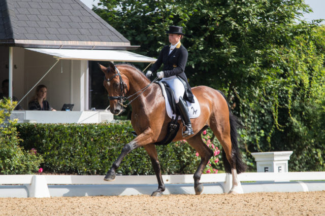 Isabell Werth (GER) konnte mit Weltcup-Pferd Emilio im zehnten Bewerb in Achleiten den zehnten Sieg einfahren. © Achleiten