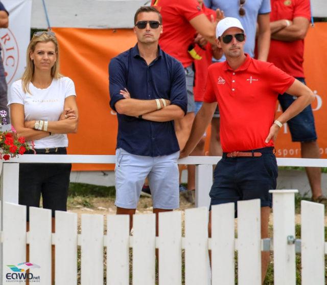 Unter den Besuchern waren prominente Gäste: Andreas Helgstrand (DEN) unterstützte seinen Sohn Alexander, der die Silbermedaille für Dänemark sichern konnte. © Petra Kerschbaum