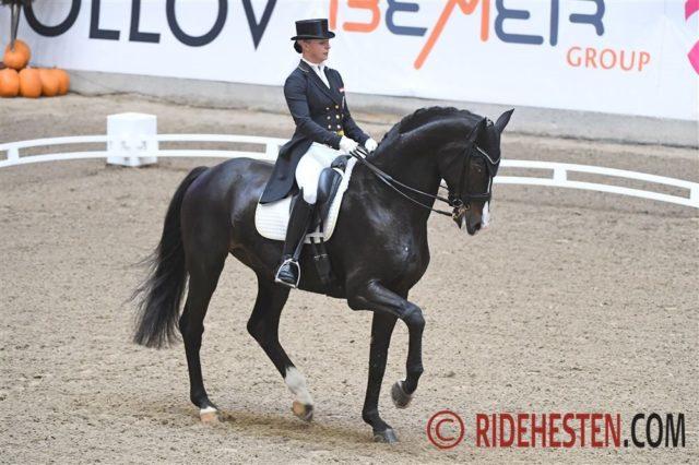 Victoria Max-Theurer (OÖ) und Abegglen FH NRW gewinnen beim CDI3* in Aarhus vor Cathrine Dufour auf Vamos Amigos! © Ridehesten.com