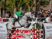 Dieter Köfler (K) holt sich nicht nur den Sieg bei der vierten Casino Grand Prix Etappe, sondern auch einen Startplatz im Superfinale von Salzburg bei den Amadeus Horse Indoors! © OEPS/Andreas Schnitzlhuber