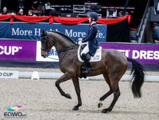 In der Weltcup-Kür von Salzburg konnte sich Helen Langehanenberg mit Annebelle auf dem dritten Rang platzieren und komplettierte das deutsche Podium. © EQWO.net