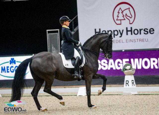 Isabell Werth und Weihegold mussten sich heute mit Fehlern in den Wechseltouren im Weltcup von Salzburg mit Platz 2 zufriedengeben. © EQWO.net