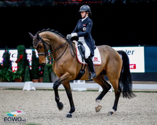 Beste Österreicherin: Platz 4 mit 71,239% für Astrid Neumayer (OÖ) und Zap Zap. © EQWO.net