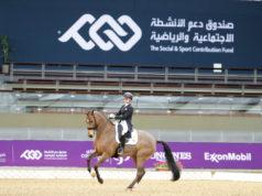 Eine Neun gab es für Zaire-E und Jessica von Bredow-Wenrdl (GER) für die Galopppirouetten in Doha. © Stefano Grasso /CHI Al Shaqab 2021