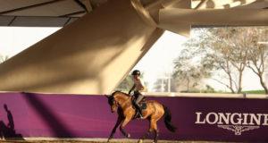 Die auf Herpes positiv getesteten Pferde in Doha wurden nach Ankunft sofort isoliert. Das Turnier kann also stattfinden! Mit dabei für das Team der Shanghai Swans: Max Kühner (AUT/T) und Elektric Blue P. © Facebook: Shanghai Swans