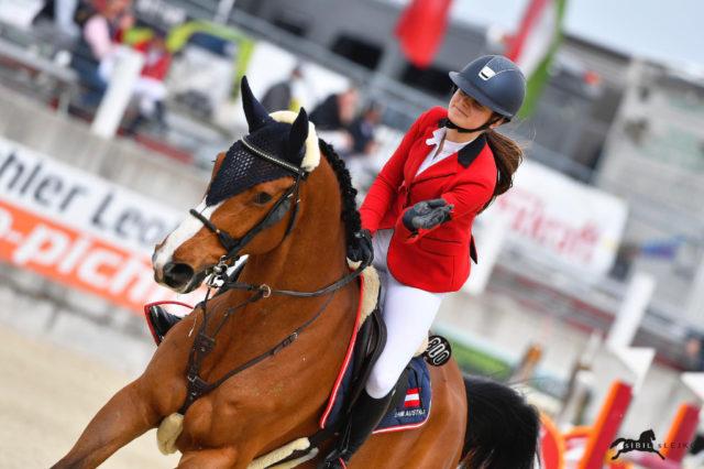 Elisabeth Knaus (K) und Cancun lieferten die beste österreichische Runde im Nationenpreis der Junioren ab! © Sibil Slejko