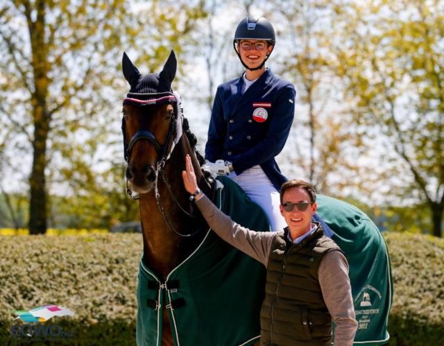 Leon Aschauer, Pferd Formidable und Trainer Florian Zimmermann. © Petra Kerschbaum