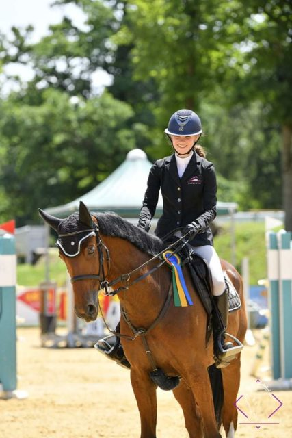 Siegerin Interhorse Grand Prix und Gesamtführende Antonia Weixelbraun (S) mit Cliffon. © Team Myrtill