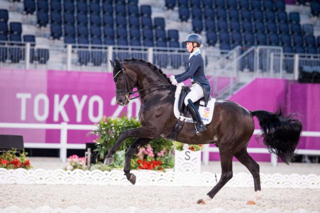 Therese Nilshagen und Dante Weltino starten bei den Olympischen Spielen in Tokio im Grand Prix Special als Schlusspaar für Schweden. © FEI