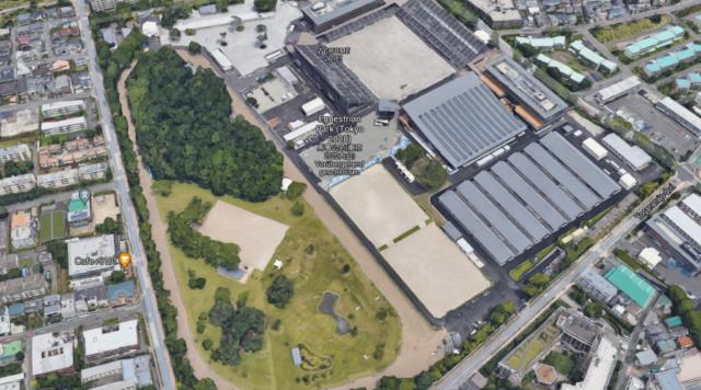 Der Tokio Equestrian Park! Hier werden alle Medaillenentscheidungen der drei Disziplinen ausgetragen werden. © Screenshot Google Maps