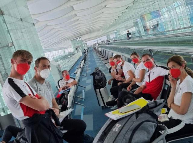 Das österreichische Team kurz vor dem Flug nach Japan. © Christian Schumach