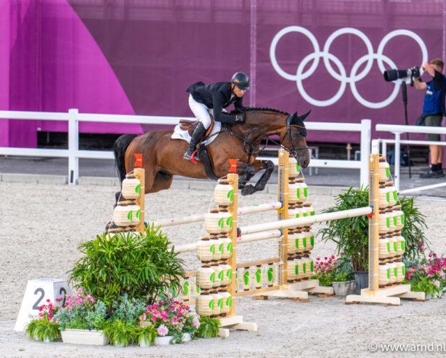 Für Michael Jung (GER) und Chimpunk FRH hätte es Gold bei den Olympischen Spiele in Tokio sein können, hätte nicht das Sicherheitssystem im Gelände ausgelöst. ©️ Arnd Bronkhorst