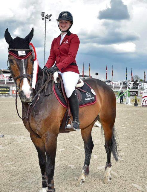 Aktuelle Führende der U25-Grand Prix Tour der Equitron pro Championstour ist Pia Hochreiter (OÖ). ©️ Lake Arena